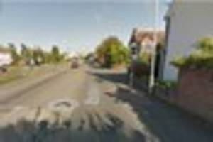road in ravenstone, near coalville closed due to accident