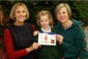 Five-year-old designs very special Christmas card that will be...