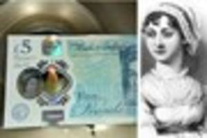 Valuable £5 note engraved with tiny Jane Austen portrait...