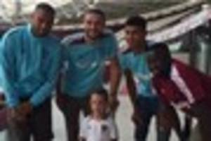 west ham fan who is allergic to fat has his wish granted with...
