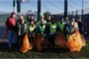 these canterbury litter pickers made a 'super human effort'
