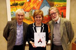 oor wullie the star of the show as first minister nicola sturgeon's christmas card is revealed