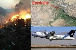 Pakistan Airlines plane was 'on fire' before it crashed into mountain killing all 47 people on board