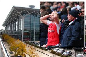 Plane crashes at Swiss airport after 'near miss with British Airways flight' leaving hundreds of Arsenal fans stranded