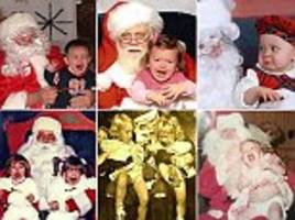 ho-ho-horrifying! hilarious photos showcase terrified children in tears as they visit santa claus in his grotto