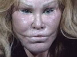 jocelyn wildenstein seen in mugshot after she 'slashed boyfriend with scissors'