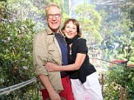 larry lamb 'splits' from partner of 20 years clare burt and moves on with 'lovely new lady' marie victorine, the great, great granddaughter of victor hugo... who met him from the jungle