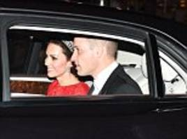 she's simply sparkling! kate makes rare outing in tiara as the queen spoils the ambassadors at white tie diplomatic reception - buckingham palace's biggest event of the year