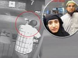 the chilling video which shows how san bernardino terrorist prepared to murder his colleagues at close range
