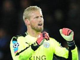 leicester keeper kasper schmeichel fighting for place against manchester city as he tries to convince claudio ranieri he is fit following hand injury