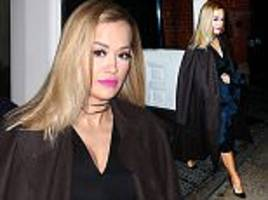 rita ora steps out in uncharacteristically sombre outfit in new york city