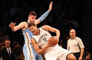 nets escape by the skin of their teeth vs. nuggets