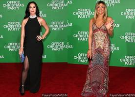 Katy Perry Joins Jennifer Aniston at 'Office Christmas Party' L.A. Premiere