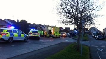 Girl airlifted to hospital after crash in Llangefni