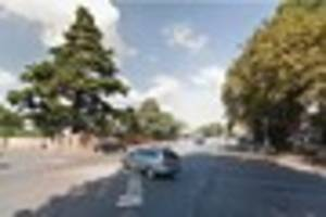 road blocked during rush hour after motorbike collision in...