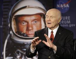 john glenn, the first american astronaut to orbit the earth, dies at 95