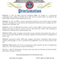 """Water Research Foundation Day"" Proclaimed by Colorado Governor Hickenlooper"