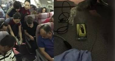 Samsung Galaxy S6 Explodes on a Plane, Fills the Cabin with Smoke