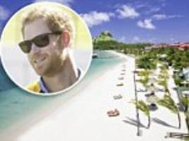 how you can follow in the footsteps of prince harry in the caribbean... by a writer who found his holiday gatecrashed by the royal traveller