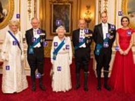 we reveal the finery the royal family turn to for diplomatic reception