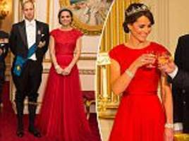 kate middleton recycles gown by jenny packham for buckingham palace reception
