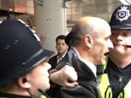 southern rail strike sparks anger at victoria station with people injured and arrested