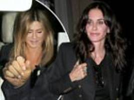Friends reunion! Jennifer Aniston and Courteney Cox enjoy a girls' night out