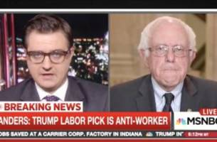 chris hayes asks sanders 'how much reality's going to matter' under trump