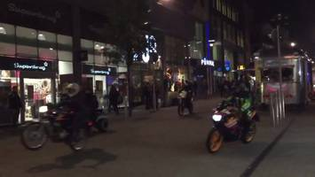 leeds 'ride out': seven arrested over biker 'chaos'