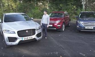 jaguar f-pace wins land rover discovery sport, ford edge comparison review