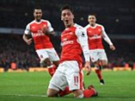 Arsenal 3-1 Stoke: Theo Walcott, Mesut Ozil and Alex Iwobi see the Gunners come from a goal down to beat the Potters