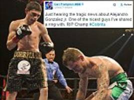 carl frampton pays tribute to former opponent alejandro gonzalez jr after boxer's tragic and sudden death