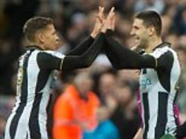 dwight gayle hat-trick sees newcastle leapfrog brighton back to the top of  championship table