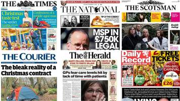 Scotland's papers: Bin lorry case and GP workload fear