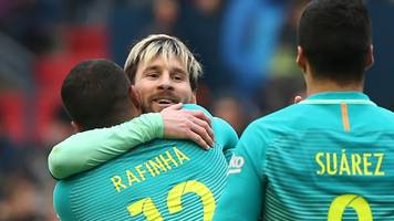 Messi scores twice at Osasuna as Barcelona close gap on Real