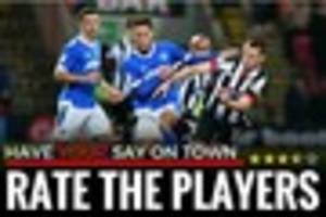 how did grimsby town fare against portsmouth? rate the players...