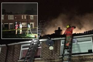 Two children, including five-year-old boy, in hospital after cannabis farm hidden in roof burst into flames