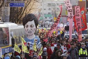 after weeks of protests, crowds celebrate park's impeachment
