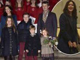princess mary and family attend christmas choir in copenhagen