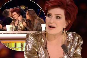 sharon osbourne tears up as she opens up about her personal struggles during x factor live final