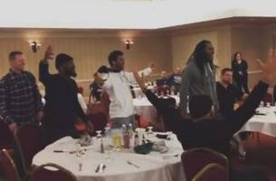 Watch the Seattle Seahawks' reaction to the Sounders' MLS Cup win