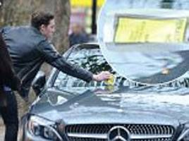 brooklyn beckham, 17, is red faced as his £37,615 mercedes c-classreceives its fourth parking ticket in just two months