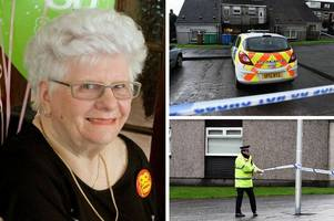 heroin addict neighbour found guilty of murdering pensioner mary logie with a rolling pin