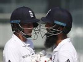 joe root insists moeen ali played brilliantly for england and hopes his team-mate can put on a 'really big score' on day two against india