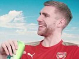 has per mertesacker got the worst australian accent ever? arsenal trio star in advert ahead of 2017 tour