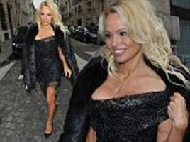 pamela anderson stuns as she makes guest appearance at modelling competition in paris