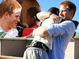 prince harry shares an emotional reunion with african orphan mutsu
