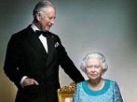 the queen and prince charles shown in touching new royal portrait