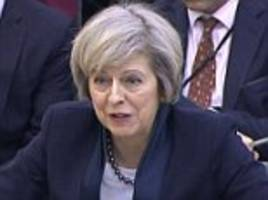 theresa may refuses to say she will cut immigration from europe to 50,000 to make sure the government can hit its 'tens of thousands' target