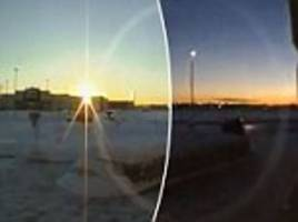 alaska timelapse shows the sun barely rising at 11 a.m. during winter daylight